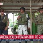 FOTO: Guardia Nacional realiza operativos en río Suchiate