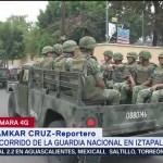 FOTO: Guardia Nacional realiza primer recorrido en Iztapalapa