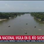 Foto: Guardia Nacional vigila el río Suchiate