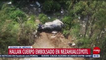 FOTO: Hallan cuerpo embolsado en Nezahualcóyotl, Estado de México, 7 Julio 2019