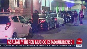 Hieren a músico estadounidense durante asalto en Guadalajara, Jalisco