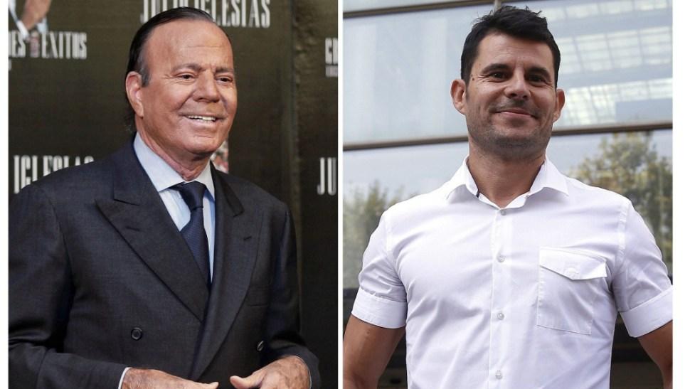 Fotos: el cantante Julio Iglesias (i) y Javier Sánchez Santos, 10 JULIO 2019