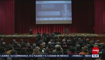 Foto: Homenaje al historiador Miguel León-Portilla