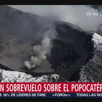 Identifican posible destrucción de un domo en el Popocatépetl