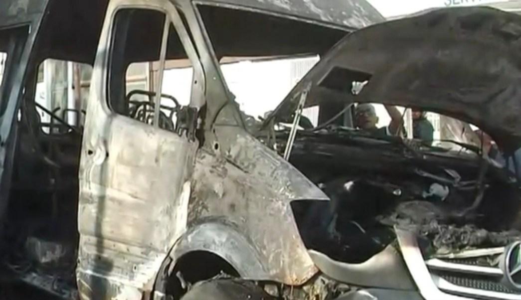 Foto: Incendian vehículo de transporte público en Gustavo A. Madero, 31 de julio de 2019, Ciudad de México