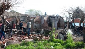 foto Mueren cinco niños al incendiarse su casa mientras dormían 8 julio 2019