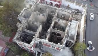Investigan incendio que destruyó emblemática Casa Alameda en Coahuila
