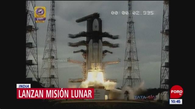 India lanza misión a la Luna