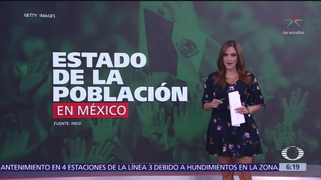 INEGI informa detalles de la población en México