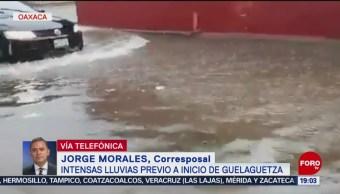 FOTO: Intensas lluvias previo al inicio de la Guelaguetza, 21 Julio 2019