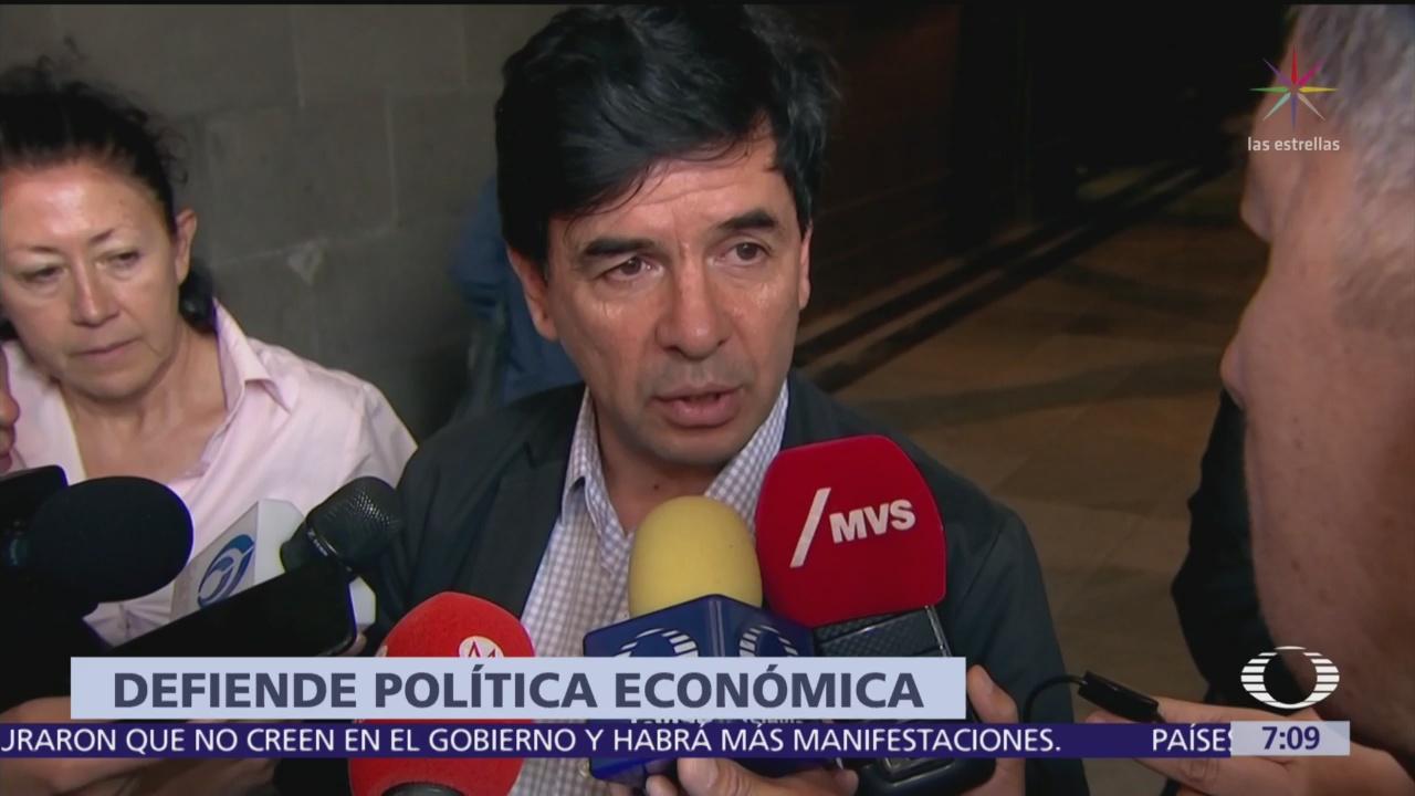 Jesús Ramírez define política económica, ante señalamientos