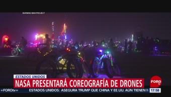 La NASA presentará coreografía con drones
