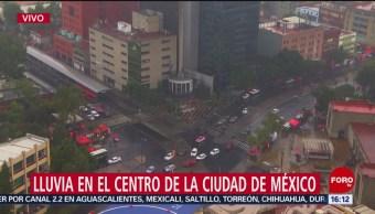 Llueve en el Centro de la Ciudad de México
