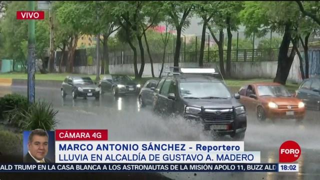 Llueve en la alcaldía Gustavo A. Madero