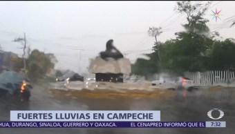 Lluvia en Campeche causa encharcamientos en varios municipios