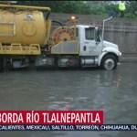 Foto: Lluvia Provoca Desbordamiento Río Tlalnepantla 25 Julio 2019