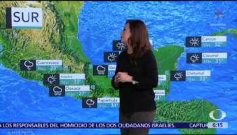 Lluvias y altas temperaturas se registrarán en gran parte de México