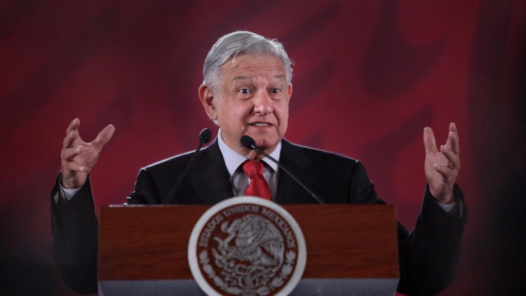 Foto: López Obrador en conferencia de prensa, 2 de julio de 2019, Ciudad de México