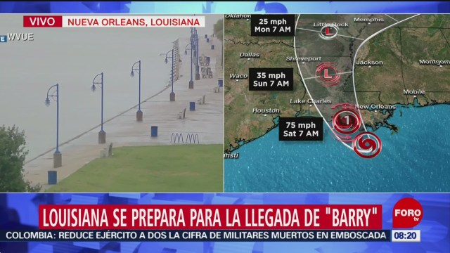 FOTO: Louisiana se prepara para la llegada de la tormenta tropical 'Barry', 13 Julio 2019