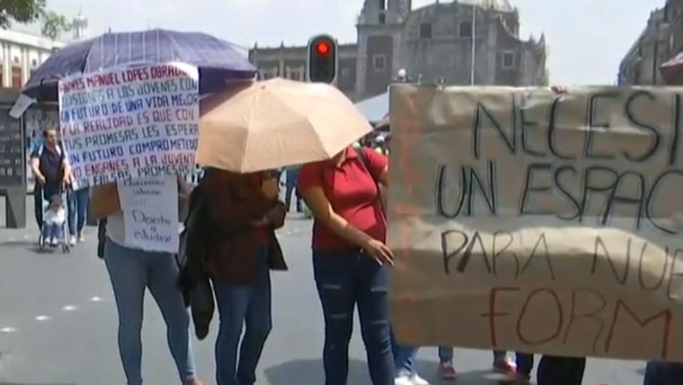 Foto: Manifestantes bloquean calles del centro de la Ciudad de México, 23 de julio de 2019