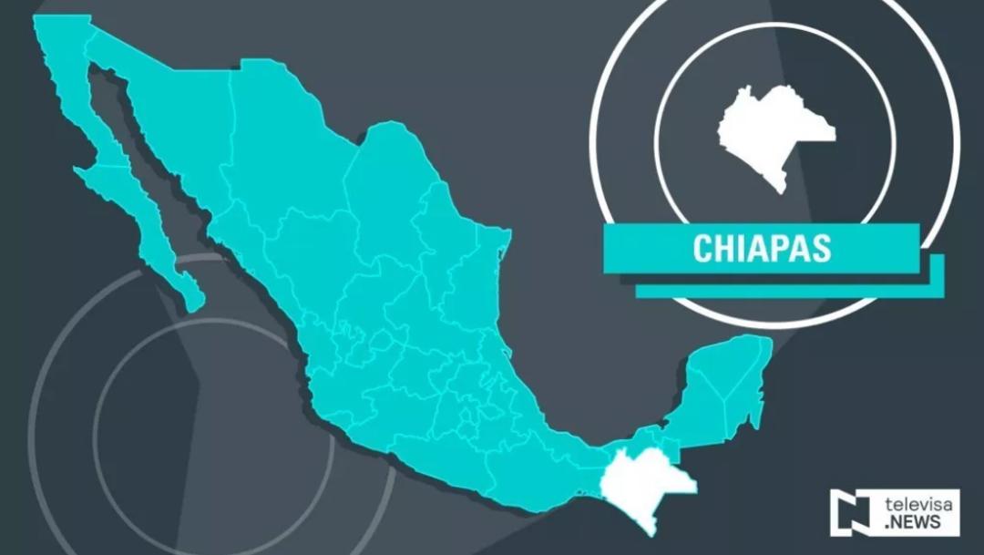 Mapa de Chiapas.