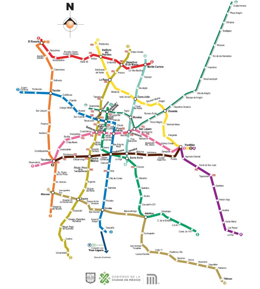 IMAGEN Mapa de las estaciones del Metro CDMX (STC)