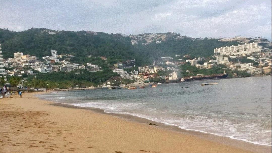 Foto: En las costas de Guerrero, se intensificó el fenómeno de mar de fondo, 11 de julio de 2019 (Twitter, @PC_Guerrero )