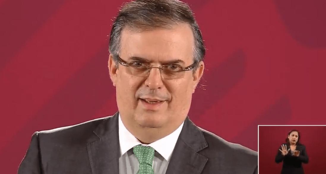 FOTO Transmisión en vivo: Conferencia de prensa AMLO 30 de julio 2019; en la imagen, el canciller Marcelo Ebrard (YouTube)