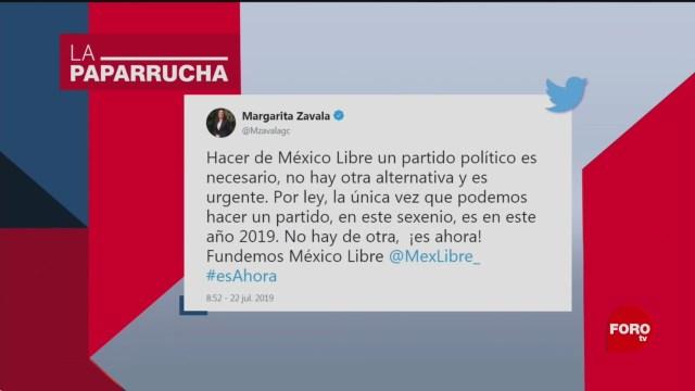 Foto: Margarita Zavala Partido Politico Noticia Falsa 23 Julio 2019