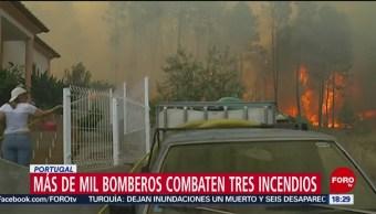 FOTO: Más de mil bomberos combaten tres incendios en Portugal, 21 Julio 2019