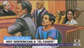 Medios de comunicación aguardan sentencia a Joaquín 'El Chapo' Guzmán