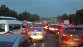 Foto: Caos vial en la autopista México Pachuca, 18 de julio de 2019, México