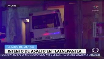 Microbús choca tras intento de asalto en Tlalnepantla, Edomex