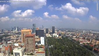 FOTO Microsismos no podrían ser por actividad humana, como obras del Metro CDMX; imagen panorámica de la ciudad, de @webcamsdemexico