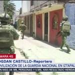 FOTO: Miembros de la Guardia Nacional recorre a pie zonas de Iztapalapa