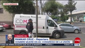 Muere hombre en avenida Congreso de la Unión en CDMX
