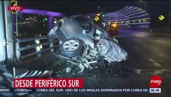 Muere una conductora tras choque en Periférico Sur, en CDMX