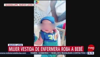 Mujer vestida de enfermera roba a bebé en hospital de Nuevo León