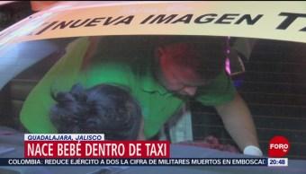 FOTO: Nace bebé dentro de taxi en Guadalajara, Jalisco, 13 Julio 2019