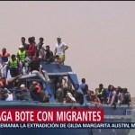 Foto: Naufraga bote con unos 300 migrantes en costas de Libia