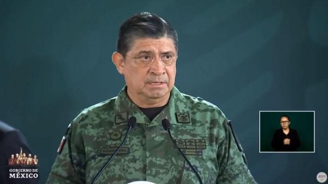 fOTO: El secretario de la Defensa Nacional, Luis Crescencio Sandoval, ofrece un informe sobre seguridad en Nayarit, 12 julio 2019