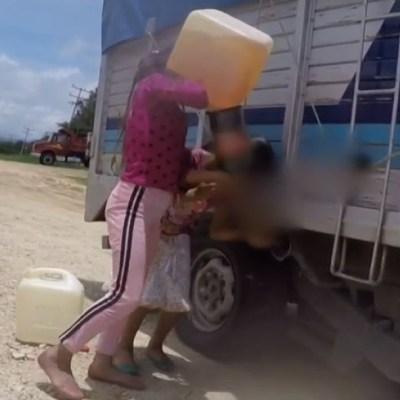 VIDEO: Así usan a niños para vender gasolina ilegal en Chiapas