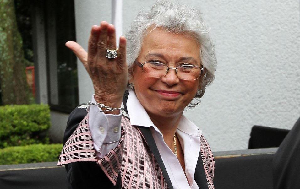 FOTO Sobre Olga Sánchez Cordero, AMLO dice: 'No queremos que se vaya' (Noticieros Televisa)