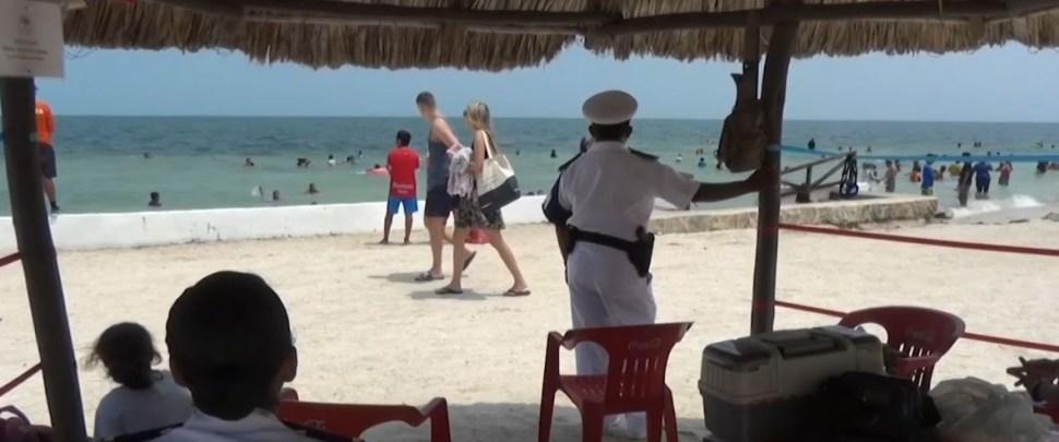 Foto: Vacacionistas disfrutan las playas de Campeche, 7 de julio de 2019 (Noticieros Televisa)