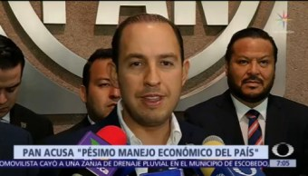 PAN critica optimismo económico de AMLO