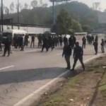 FOTO Policías federales realizan nuevo bloqueo en la México-Pachuca (SSC CDMX 4 julio 2019)