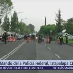 Policías federales mantienen toma del Centro de Mando de Iztapalapa