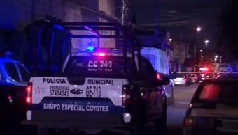 Foto: Policías en zona de homicidio en Nezahualcóyotl, Edomex