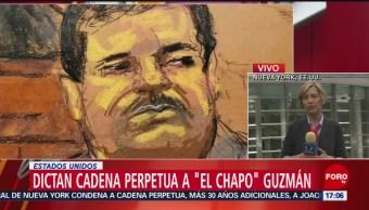 Dictan cadena perpetua a El Chapo