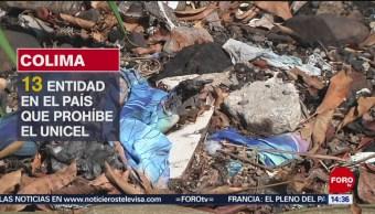 Prohíben uso de unicel en Colima